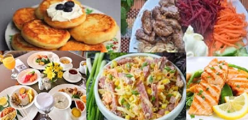 Рецепты правильного и здорового питания, блюда русской кухни для похудения, недельное меню для женщин