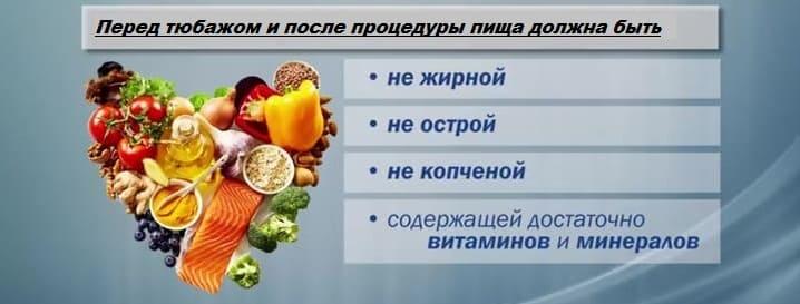 пища до и после тюбажа