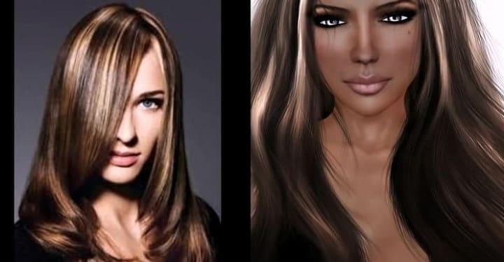 на русые волосы фото до и после