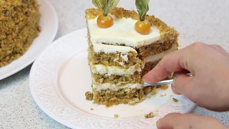 морковный торт приготовление