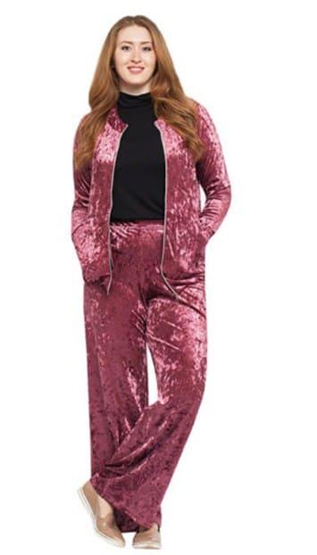 Брючные костюмы для полных женщин вечерние