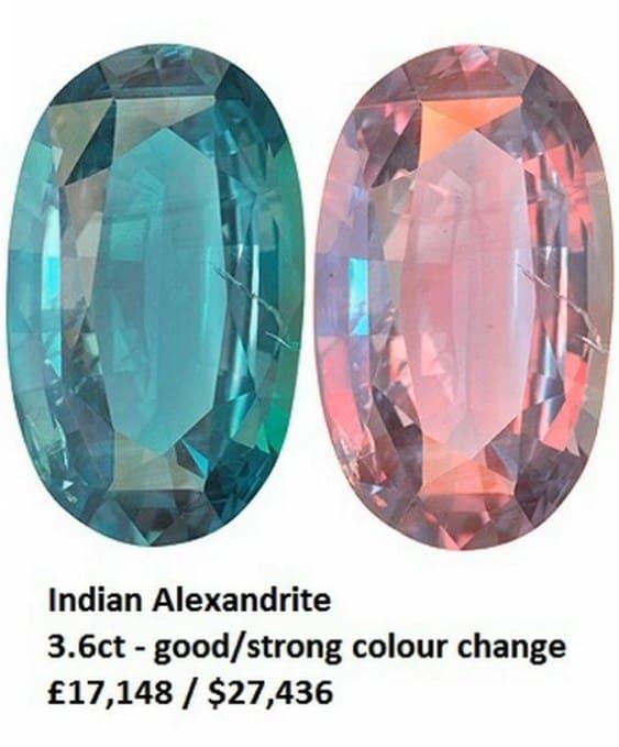 александрит камень свойства